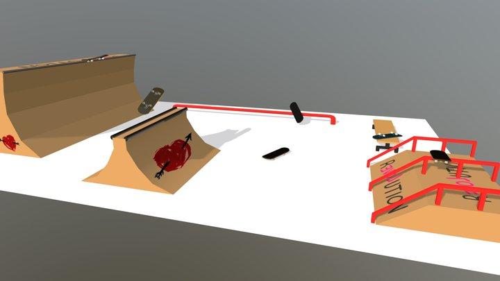 Skateboard Park - Week6 3D Model