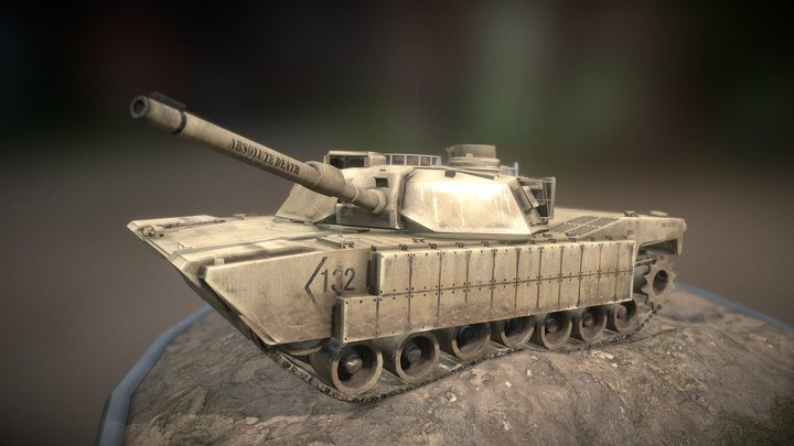 M1 Abrams Tank Final 3D Model