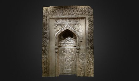 Stucco Mihrab, National Museum of Iran 3D Model