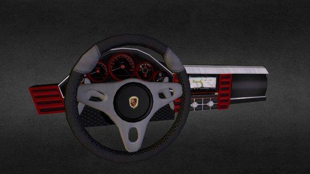 Porsche Panamera Dashboard 3D Model