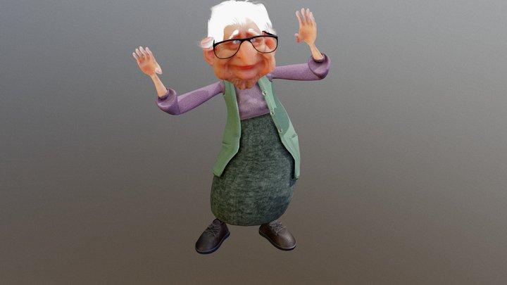 Dancing Grandma 3D Model