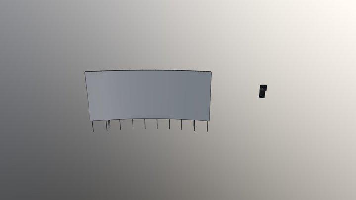 Cinema Screen 3D Model
