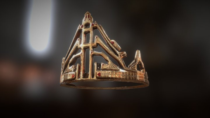 nordic dwarf crown 3D Model