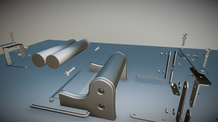 Presse à pâtes versus presse à Tetra Pak 3D Model