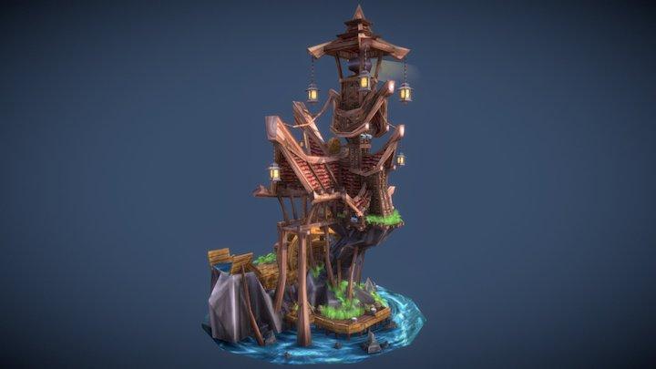 Medieval Lighthouse 3D Model