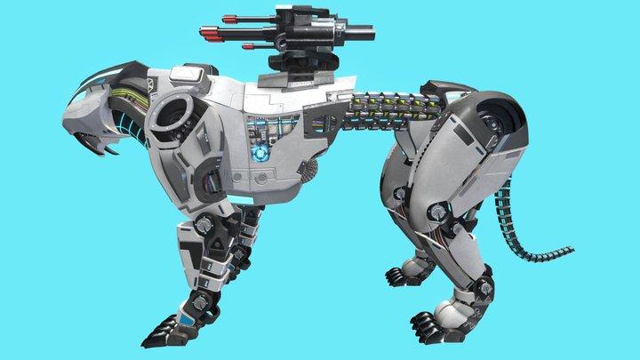 Sci-fi tiger 3D Model
