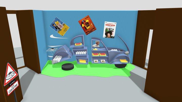 Musée De Funes 2cv 3D Model