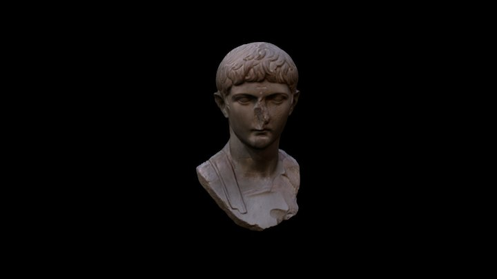 Marble head of Germanicus 3D Model