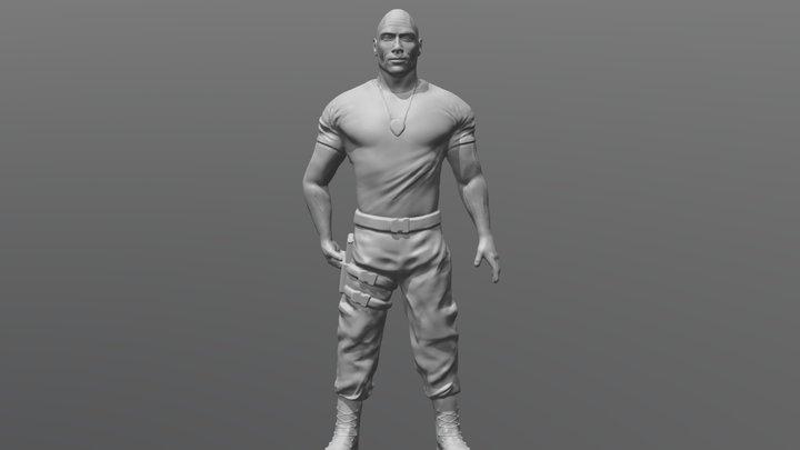 Dwayne Rock Johnson ready for 3D printing 3D Model