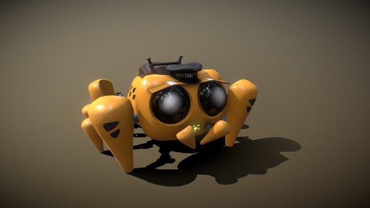 Taxi Spider Bot #CuteRobotChallenge 3D Model