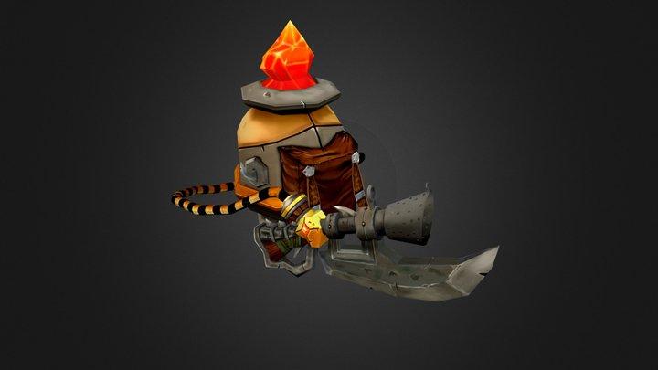 Magic Flamethrower GameArt 3D Model