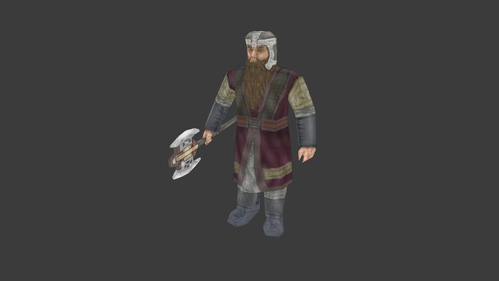 Dwarf (low poly) 3D Model