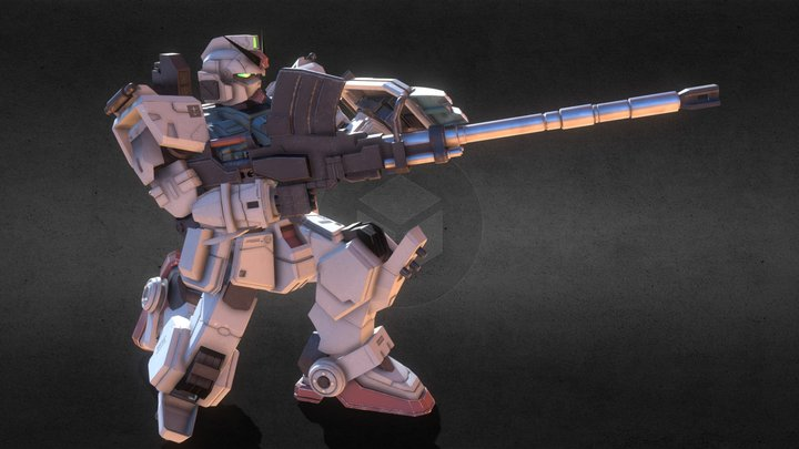 Ground Gundam RX-79 [G] Kneeling 3D Model
