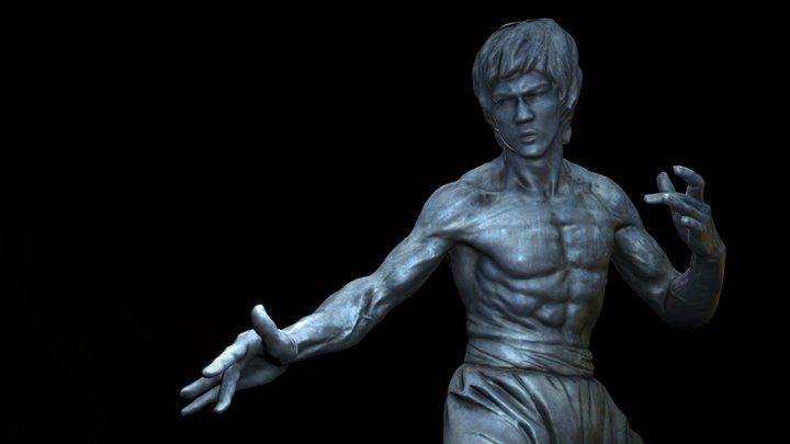 Bruce Lee statue, Tsim Sha Tsui, Hong Kong 3D Model