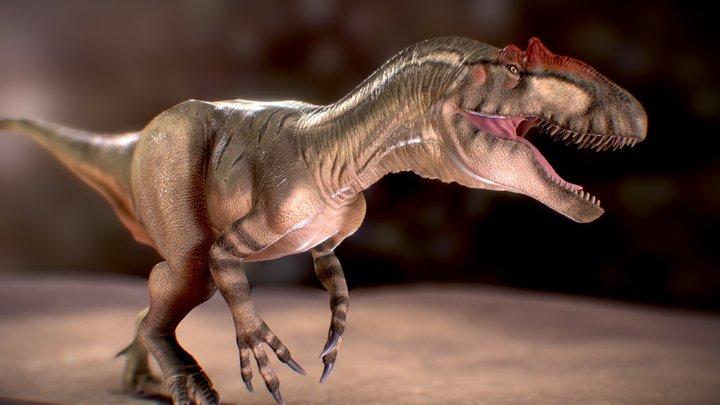 Allosaurus (Walking with dinosaur texture) 3D Model