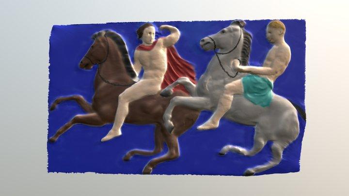 Janna WII of the frieze, Basel, Polychromed 3D Model