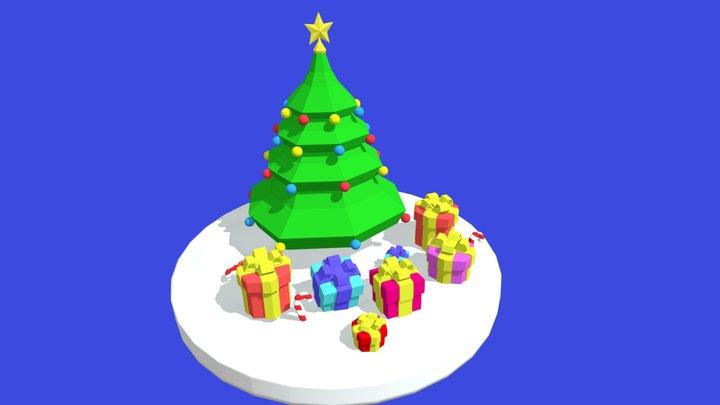 Christmas Tree - LowPoly 3D Model