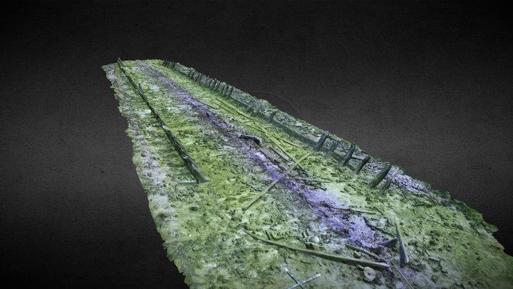 Coal barge Peenemündung, Ostsee VII, Fpl. 81 3D Model