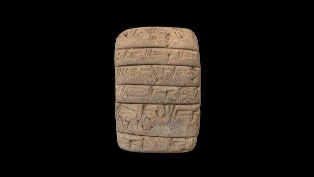 MS Doc. 829 Sumerian clay tablet 3D Model