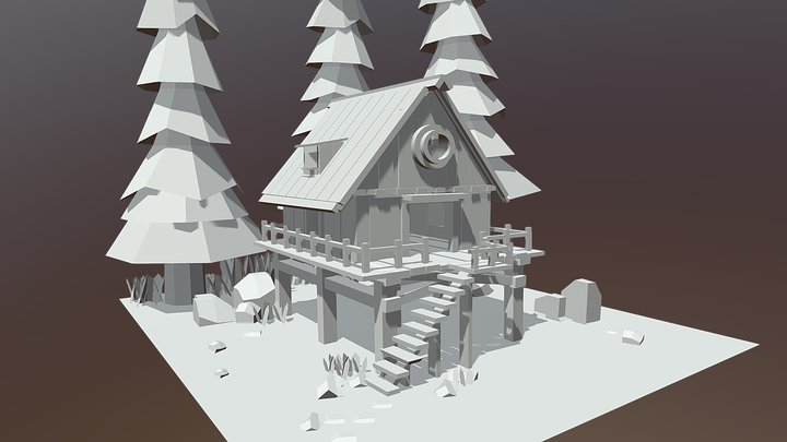 Cabin-modeling for Tiny cabin challenge 3D Model