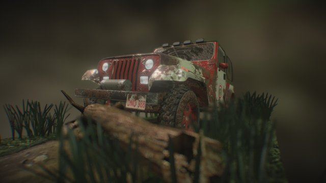 Jeep Patrol - Paraguay Border by Diego Dneo 3D Model
