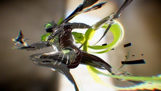 Genji - Overwatch - Tilt Brush 3D Model