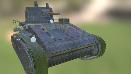 Leichttraktor German Tank WW II 3D Model