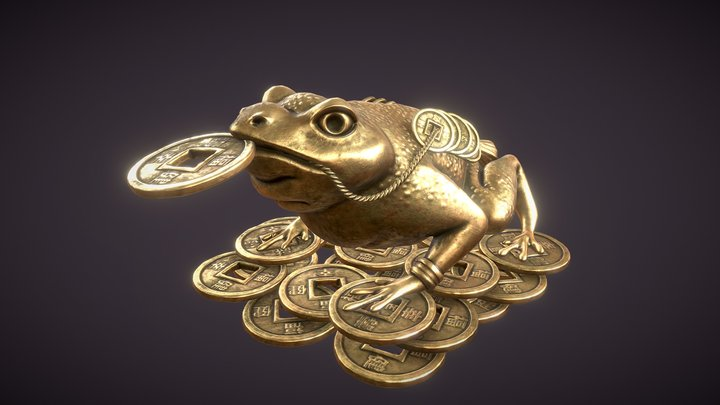 Money toad 3D Model