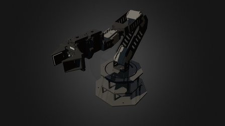 WidowX MKII Robotic Arm 3D Model