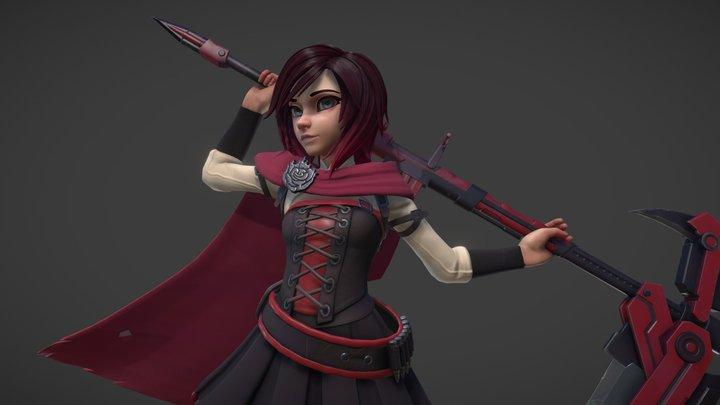 Ruby Rose 3D Model