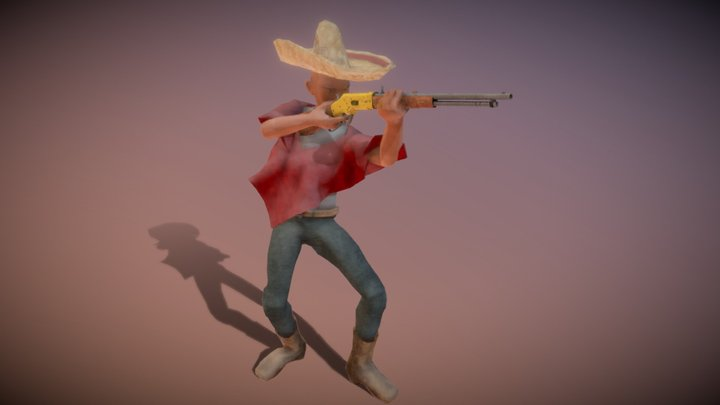Mexican Outlaw 3D Model
