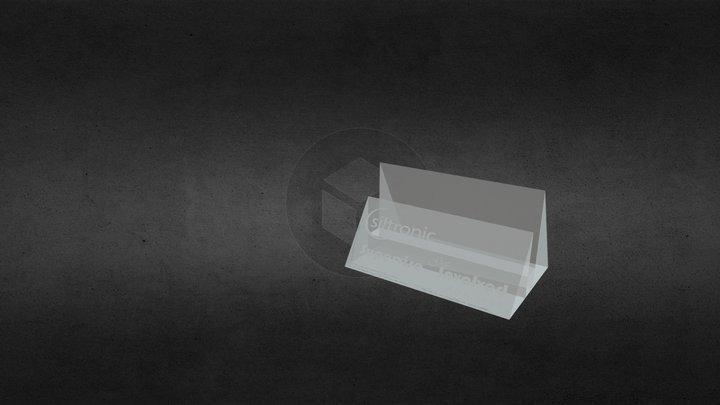 Siltronic Crystal Namecard Holder 3D Model