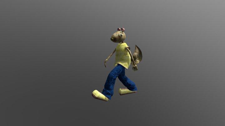 Lontro Walking 3D Model