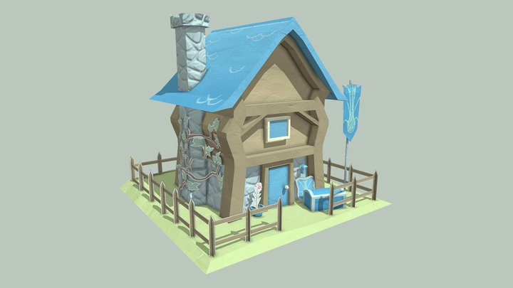 Papercraft Knights Home 3D Model