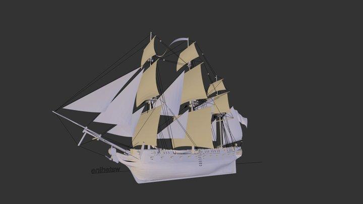 Hms Surprise Papercraft Reference Model 3D Model
