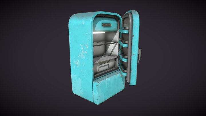 Bhatos-Toon Fridge 3D Model