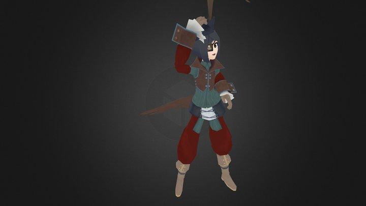 Pirate Pose 3D Model