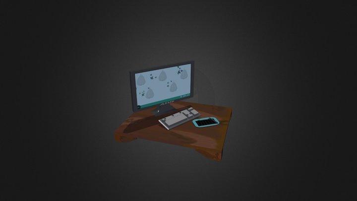 Computer Area 3D Model