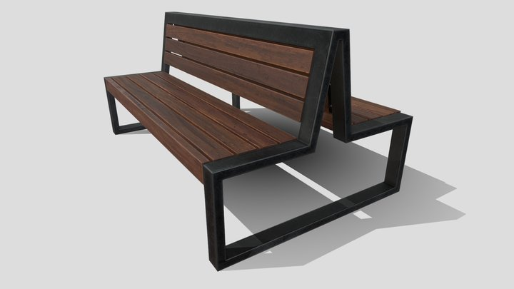 Double Bench 3D Model