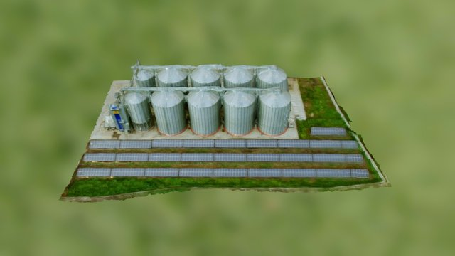 Depozit cereale, Agrichim 3D Model