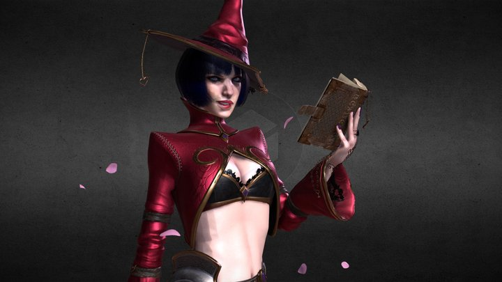 The Witch of Hearts 3D Model
