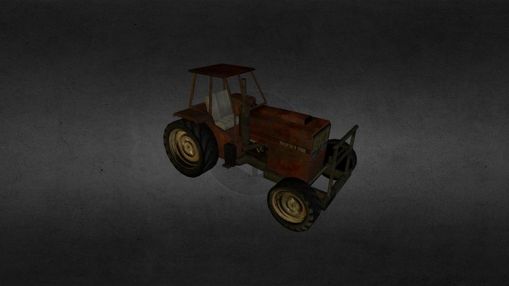 Tractor-LowPoly 3D Model