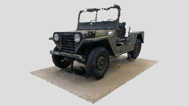 """M151A1 MUTT TRUCK """"JEEP"""" [3D phot scan] 3D Model"""