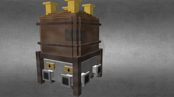 Liquid Fuel Boiler 3D Model