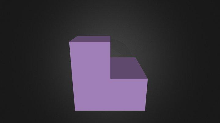 Purple Puzzle Cube Part 3D Model