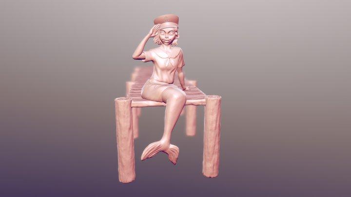 Ajam's Mermaid 3D Model