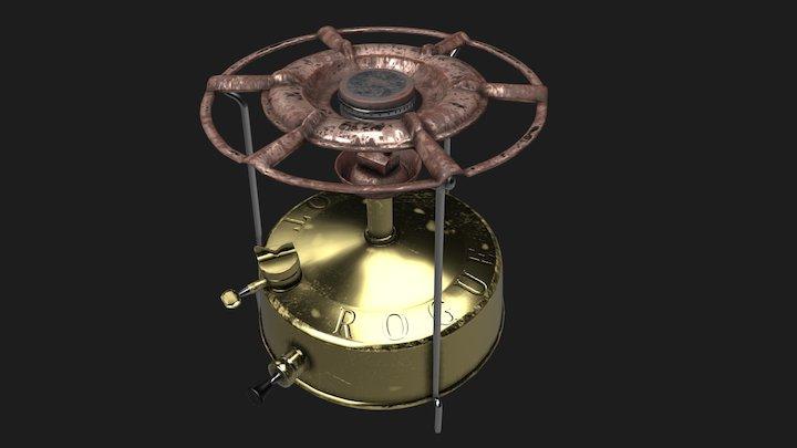 Rusted Burner Brass 3D Model