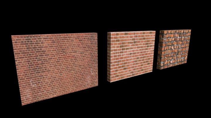 Simple Brick Model 3D Model