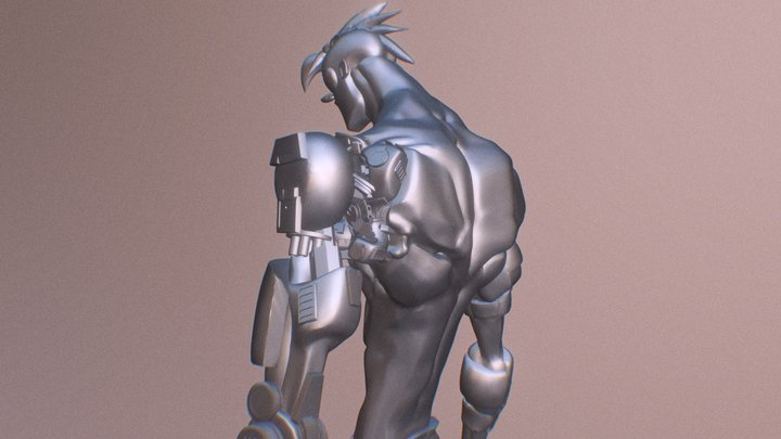 Decimated Dude 3D Model