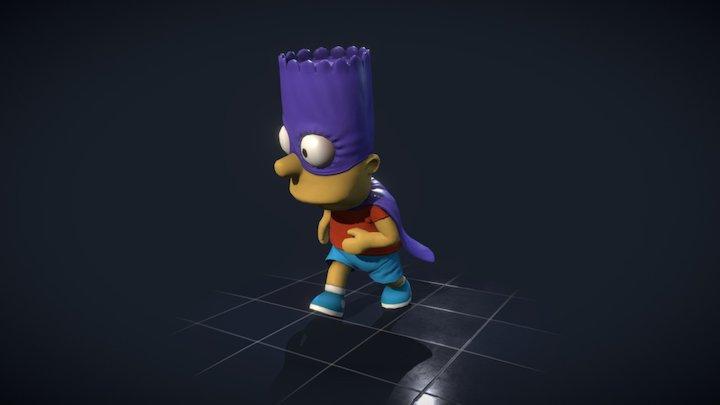 Bart - Super hero 3D Model
